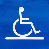 Parking sign for handicapped — Stock Photo