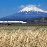 Japan bullet train shinkansen — Stock Photo #48151403