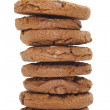 Macadamia nuts, chocolate chip cookies — Stock Photo