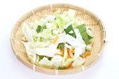 Légumes frais en tranches et hachés — Photo