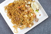 Chinese stir-fried noodles — Stock Photo
