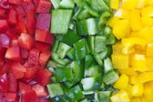 Chopped fresh colored Bell Pepper — Stockfoto