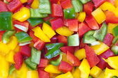 Chopped fresh colored Bell Pepper — Zdjęcie stockowe