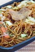 Japanese stir fried noodle yakisoba — Stock Photo