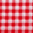Red and white gingham tablecloth — Stock Photo #49577671