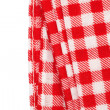 Red and white gingham tablecloth — Stock Photo #49577683