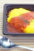 Omelett mit gebratener Reis gemacht — Stockfoto