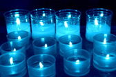 Candles lit for the hope and prayer — Stock Photo