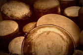 Old pots and pans — Stock Photo