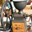 Old wooden coffee grinder — Foto Stock