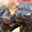 Detail of statue of kiss — Stock Photo