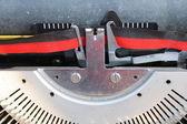Detail of old typewriter — Stock Photo