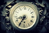 Detail of old wall clock — Stock Photo