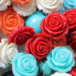 Stock Photo: Colored roses stones