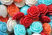 Colored roses stones — Stock Photo