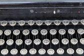 Detalj av en gammal skrivmaskin — Stockfoto