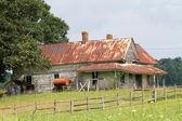 Old american barn — Stock Photo