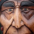 Old wooden indian mask — Stock Photo