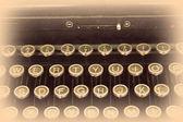 Dettaglio di una vecchia macchina da scrivere — Foto Stock