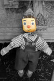Old wooden puppet — Stock Photo