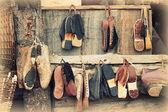 Stare drewniane chodaki — Zdjęcie stockowe