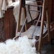 Stock Photo: Scrape away wool