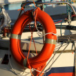 Stock Photo: Lifebuoy on lake