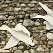 Stock Photo: Old wall with dove