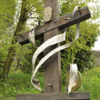 Stock Photo: Wooden cross in mountain
