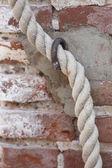 Antique ancient walls of castl — Stock Photo