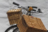 Bicycle whit baskets — Stock Photo