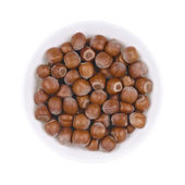 Haselnuts in bowl — Stock Photo