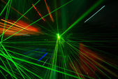 Abstract laser light — Foto Stock