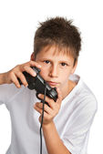 Boy with games controller. — Stock Photo