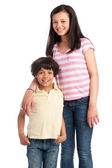Mixed Race Brother and Sister. — Stock Photo