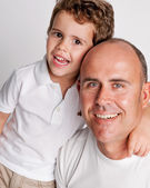 Happy Father and Son. — Stock Photo