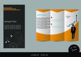 Brochure template design — Vetor de Stock