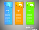Colour numbered banners — Stock Vector