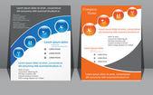 Print media flyers — Stock Vector