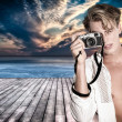 Fashionable Photographer — Stock Photo