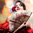 Fashion Art Portrait Of Beautiful Girl. Andalusian Style Woman - Stock Photo