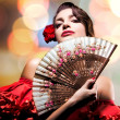 Stock Photo: Fashion Art Portrait Of Beautiful Girl. Andalusian Style Woman