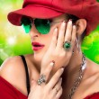 Fashionable Hip Hop Woman. Beauty Party Girl — Stock Photo