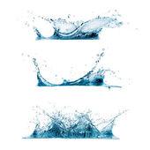 Su sıçramalarına kümesi — Stok fotoğraf
