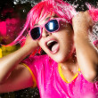 Beauty Party Girl. Water Splash — Stock Photo #29191221