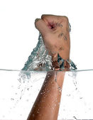 Punch Trespassing Water. Hitting the water — Stock Photo