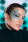 Beauty Fashion Girl with Fantasy Makeup — Stock Photo