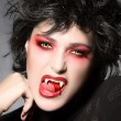 Stock Photo: Beauty Vampire Girl