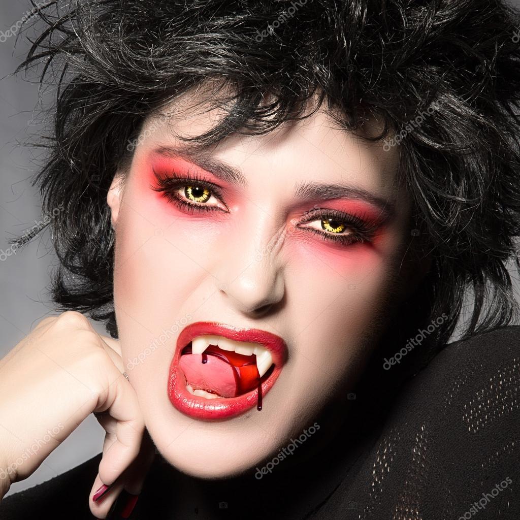 halloween sch ne vampirm dchen stockfoto casther 34057363. Black Bedroom Furniture Sets. Home Design Ideas
