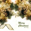 Golden Christmas and New Year Decorations — Stockfoto
